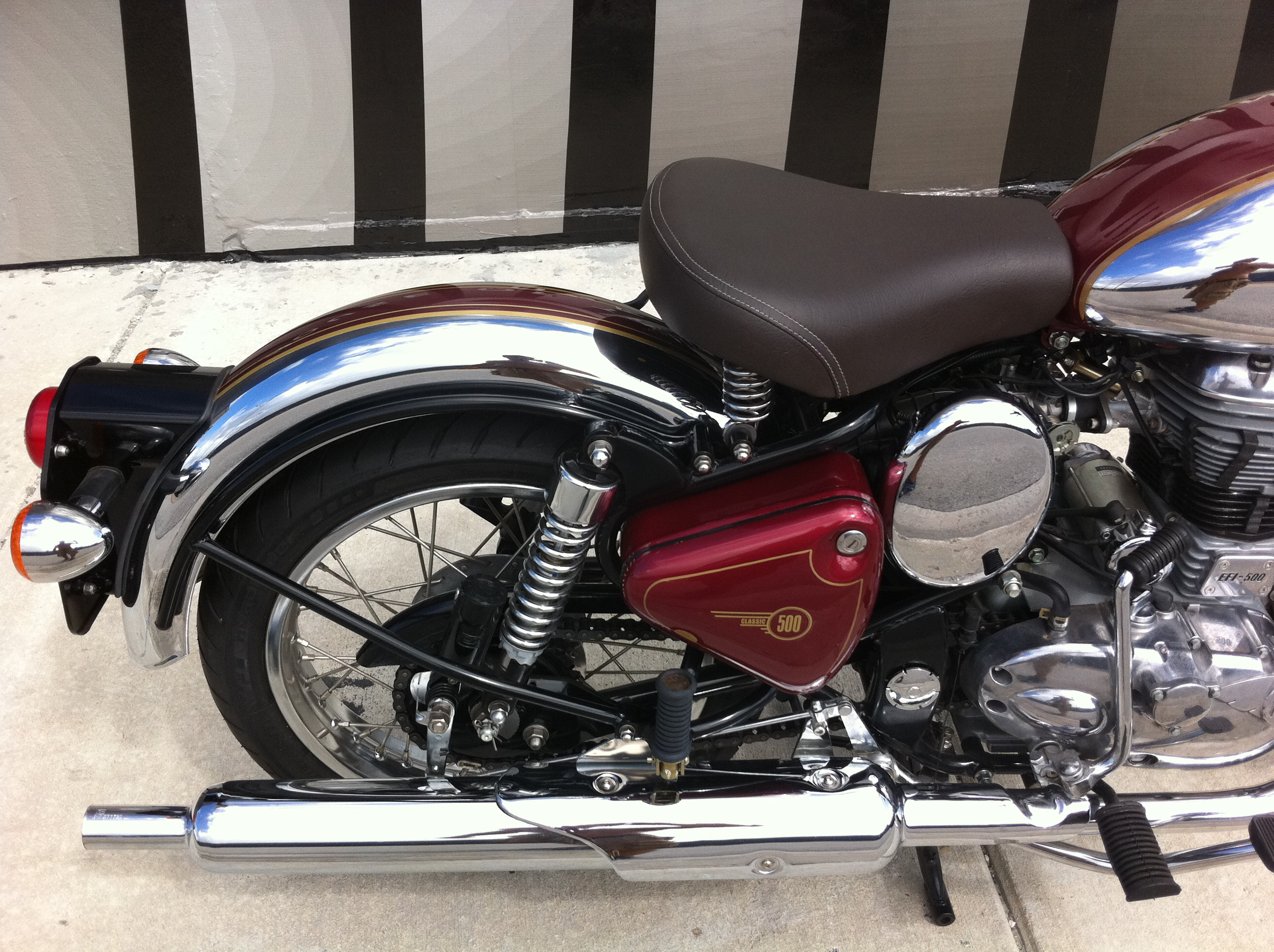 Royal Enfield C5 Classic Chrome Red House Of Thunder